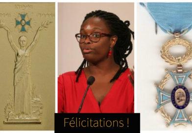 Sibeth reçoit la Grande Médaille d'Or des Arts et lettres avec Plaquette d'Honneur.