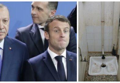 Macron appelle l'Europe à boycotter les toilettes turques.