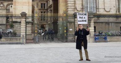 E. Macron manifeste pour que la Justice laisse Marine tranquille…