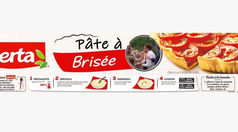 E. Macron, nouvelle icône de la pâte à tarte Herta…